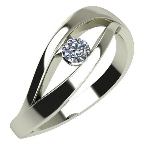 Годежен Пръстен бяло злато с диамант Eyes 0,12 ct. 472