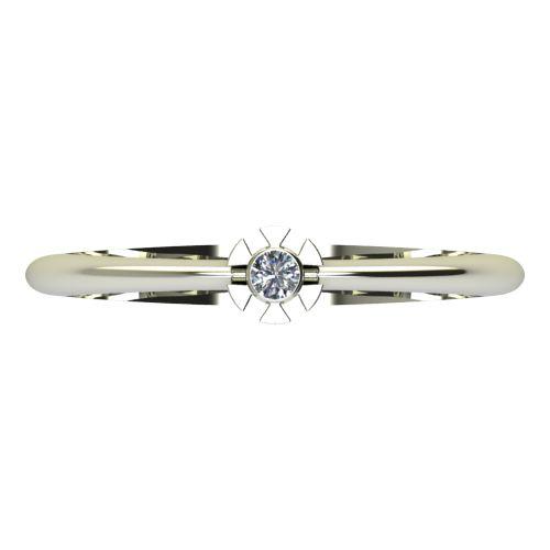 Годежен Пръстен бяло злато с диамант Flores 0,04 ct. 2172 a
