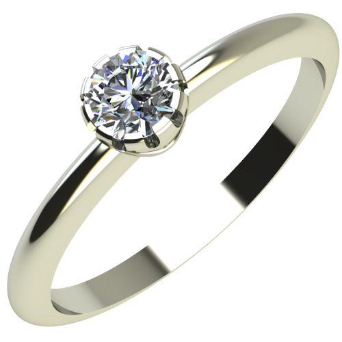 Годежен Пръстен бяло злато с диамант Flores 0,07 ct. 2157