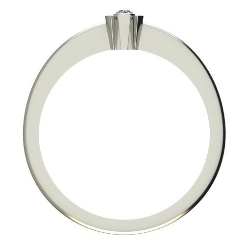 Годежен Пръстен бяло злато с диамант Flores 0,07 ct. 2173 b