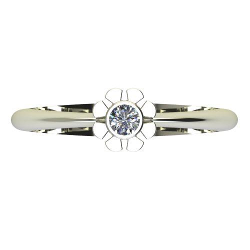 Годежен Пръстен бяло злато с диамант Flores 0,07 ct. 2180 a