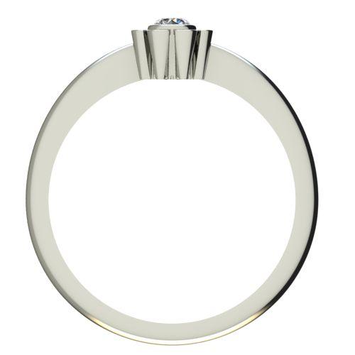 Годежен Пръстен бяло злато с диамант Flores 0,07 ct. 2180 b