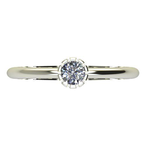 Годежен Пръстен бяло злато с диамант Flores 0,12 ct. 2158 a