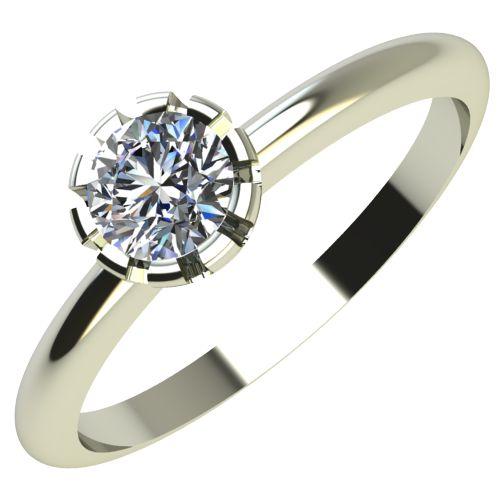Годежен Пръстен бяло злато с диамант Flores 0,12 ct. 2158