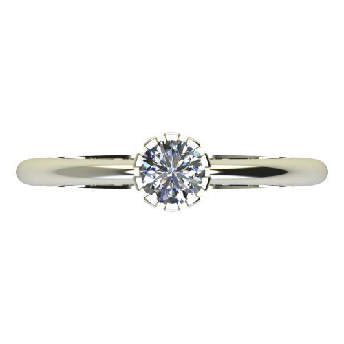 Годежен Пръстен бяло злато с диамант Flores 0,17 ct. 2159 a