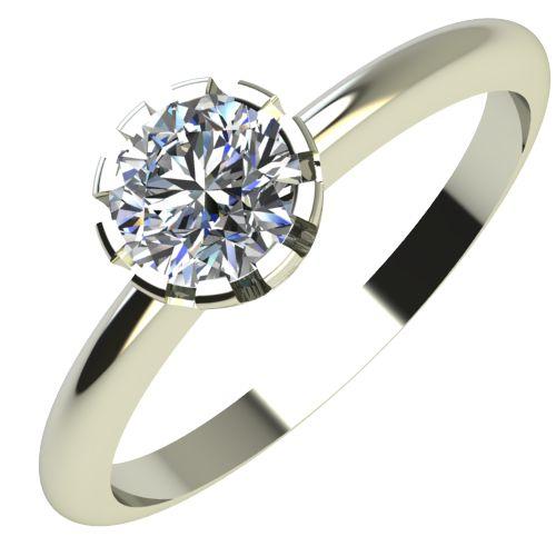 Годежен Пръстен бяло злато с диамант Flores 0,17 ct. 2159
