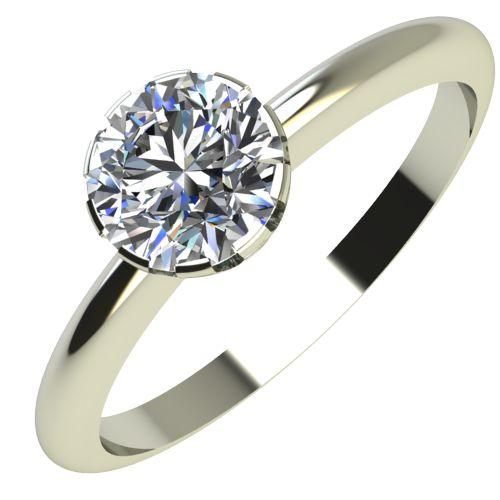 Годежен Пръстен бяло злато с диамант Flores 0,25 ct. 2160