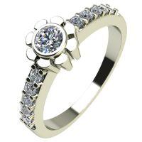 Годежен Пръстен бяло злато с диамант Flores 0,27 ct. 2175