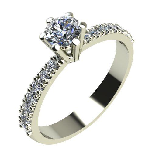 Годежен Пръстен бяло злато с диамант Nova 0,32 ct. 2176