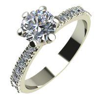 Годежен Пръстен бяло злато с диамант Nova 0,37 ct. 2177