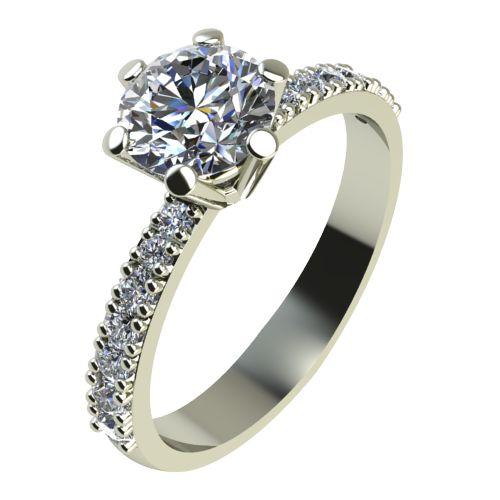 Годежен Пръстен бяло злато с диамант Nova 0,45 ct. 2178