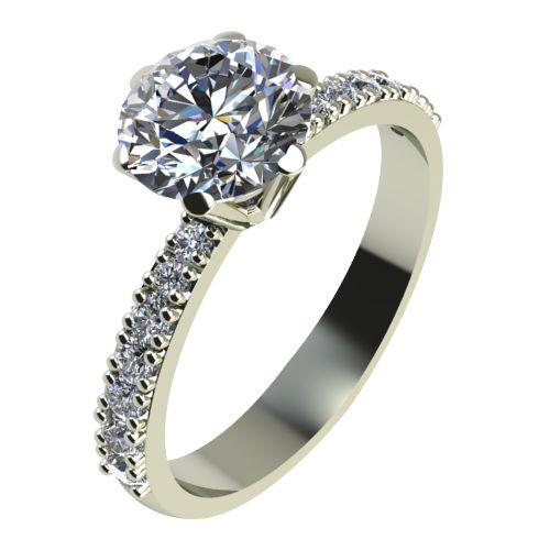 Годежен Пръстен бяло злато с диамант Nova 0,56 ct. 2179
