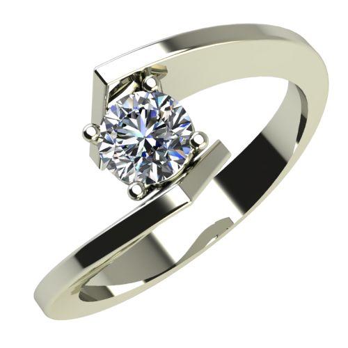 Годежен Пръстен бяло злато с диамант Open 0,17 ct. 586