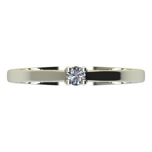 Годежен Пръстен бяло злато с диамант Piece 0,04 ct. 2161 a