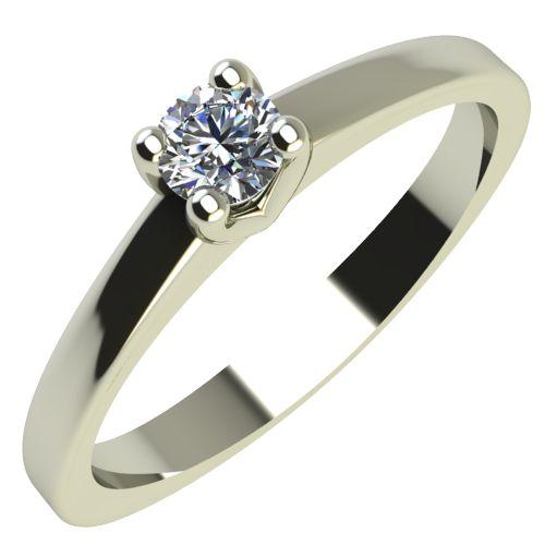 Годежен Пръстен бяло злато с диамант Piece 0,04 ct. 2161