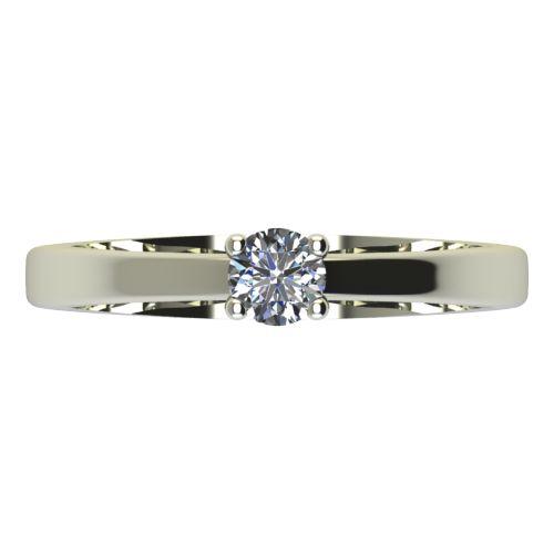 Годежен Пръстен бяло злато с диамант Piece 0,07 ct. 2162 a