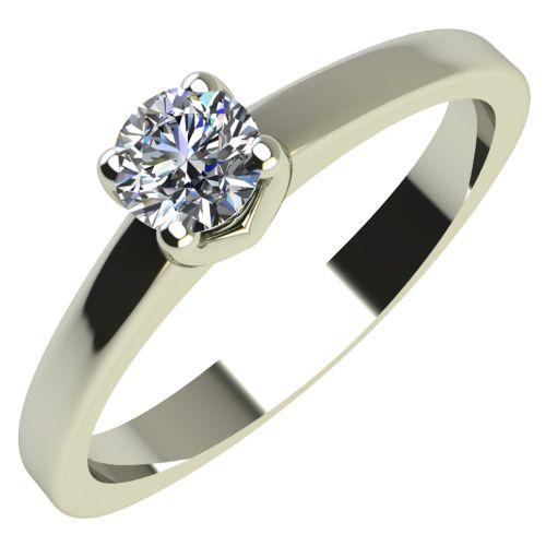 Годежен Пръстен бяло злато с диамант Piece 0,07 ct. 2162