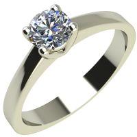 Годежен Пръстен бяло злато с диамант Piece 0,12 ct. 2163