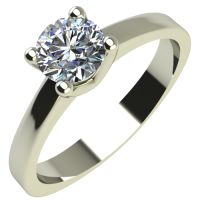 Годежен Пръстен бяло злато с диамант Piece 0,17 ct. 2164