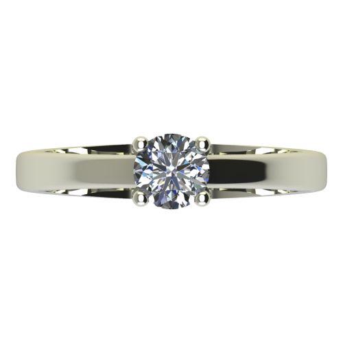Годежен Пръстен бяло злато с диамант Piece 0,17 ct. 2164 a