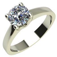 Годежен Пръстен бяло злато с диамант Piece 0,25 ct. 2165
