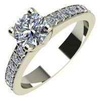 Годежен Пръстен бяло злато с диамант Piece 0,38 ct. 2166
