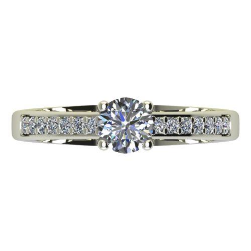 Годежен Пръстен бяло злато с диамант Piece 0,38 ct. 2166 a