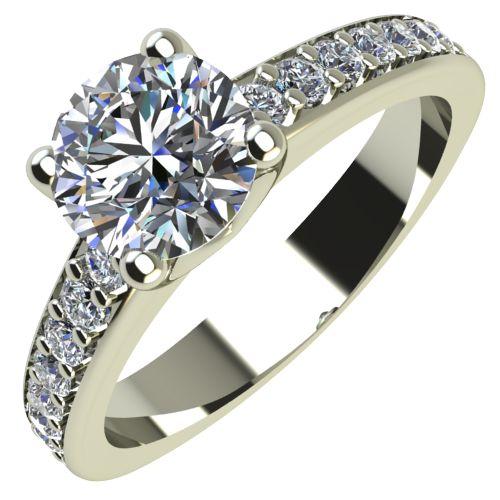 Годежен Пръстен бяло злато с диамант Piece 0,46 ct. 2167