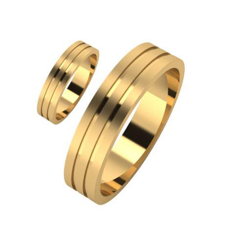 Брачни Халки жълто злато модел Foils кат.номер 7165