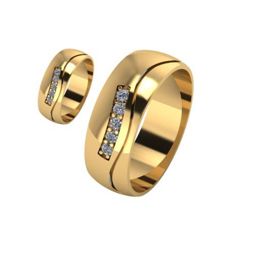 Брачни Халки жълто злато модел Shels кат.номер 7160