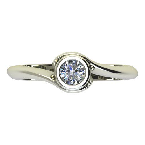 Годежен Пръстен бяло злато с диамант Accent 0,17 ct. 2205 a