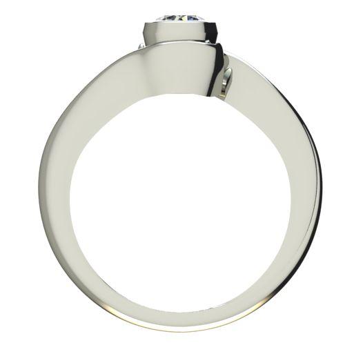 Годежен Пръстен бяло злато с диамант Accent 0,17 ct. 2205 b