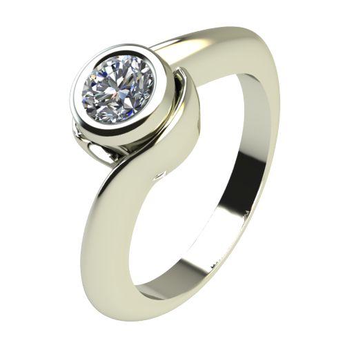 Годежен Пръстен бяло злато с диамант Accent 0,17 ct. 2205