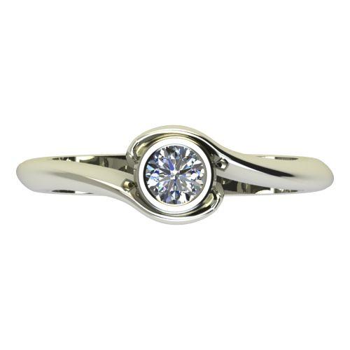 Годежен Пръстен бяло злато с диамант Accent 0,25 ct. 2206 a