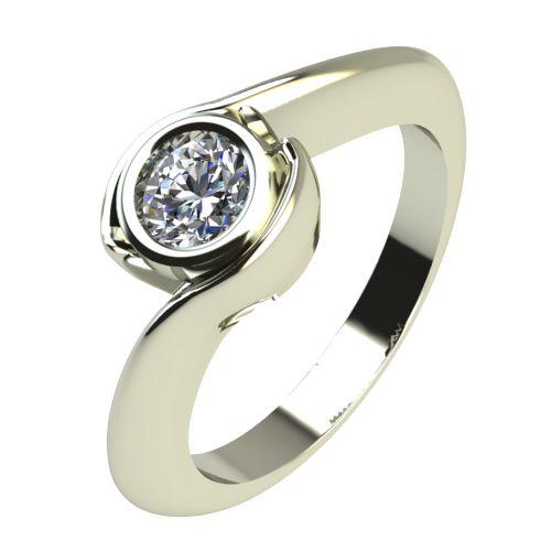 Годежен Пръстен бяло злато с диамант Accent 0,25 ct. 2206