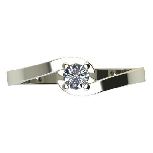 Годежен Пръстен бяло злато с диамант Close 0,04 ct. 2196 a