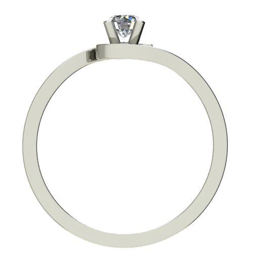 Годежен Пръстен бяло злато с диамант Close 0,04 ct. 2196 b