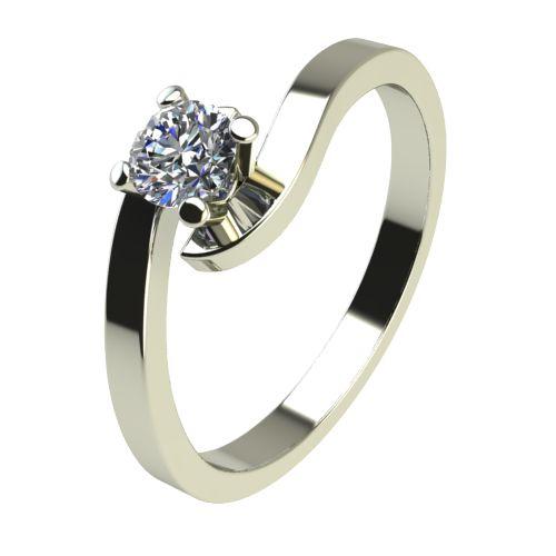 Годежен Пръстен бяло злато с диамант Close 0,04 ct. 2196