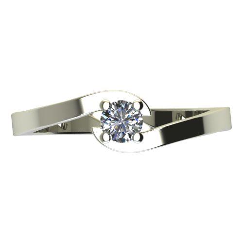 Годежен Пръстен бяло злато с диамант Close 0,07 ct. 2197 a