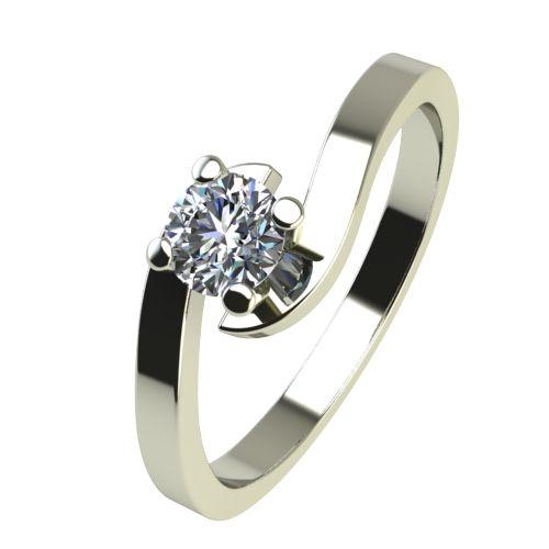 Годежен Пръстен бяло злато с диамант Close 0,07 ct. 2197