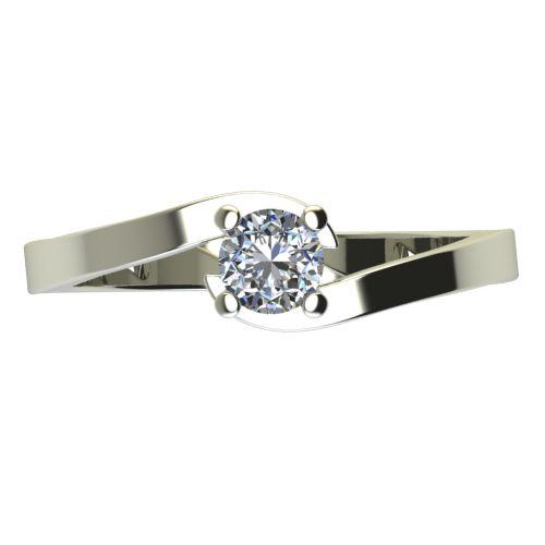 Годежен Пръстен бяло злато с диамант Close 0,12 ct. 2198 a