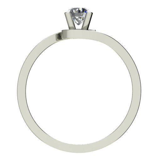 Годежен Пръстен бяло злато с диамант Close 0,12 ct. 2198 b