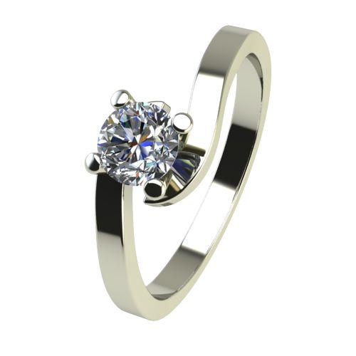 Годежен Пръстен бяло злато с диамант Close 0,12 ct. 2198