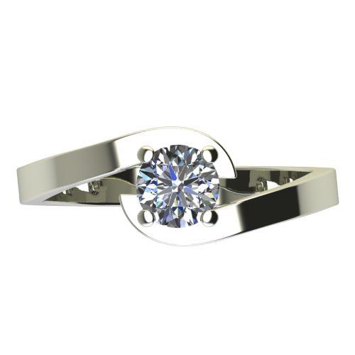 Годежен Пръстен бяло злато с диамант Close 0,17 ct. 2199 a