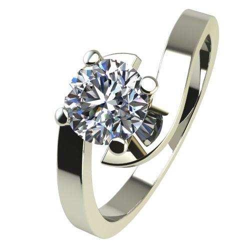 Годежен Пръстен бяло злато с диамант Close 0,17 ct. 2199