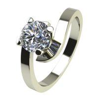 Годежен Пръстен бяло злато с диамант Close 0,25 ct. 2200
