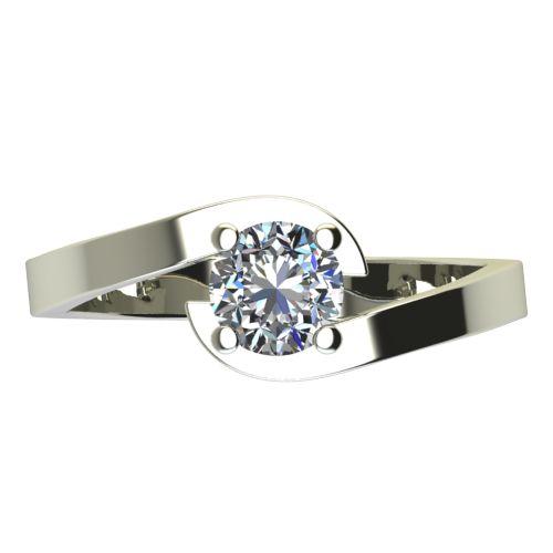 Годежен Пръстен бяло злато с диамант Close 0,25 ct. 2200 a
