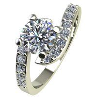 Годежен Пръстен бяло злато с диамант Close 0,49 ct. 2201