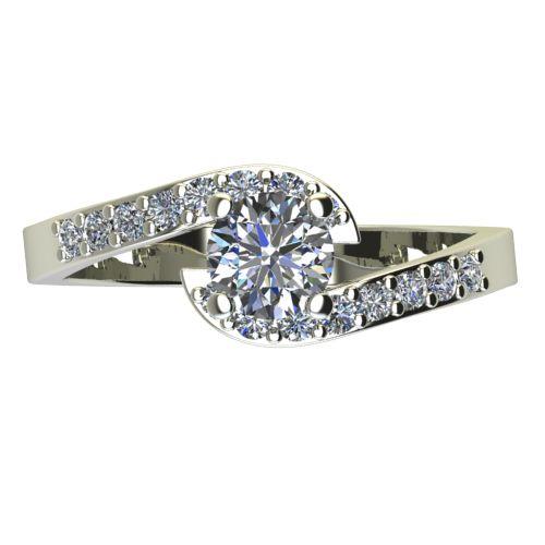 Годежен Пръстен бяло злато с диамант Close 0,49 ct. 2201 a