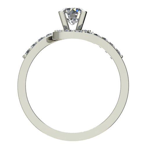Годежен Пръстен бяло злато с диамант Close 0,49 ct. 2201 b